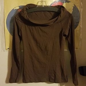 Charlotte Russe Chocilate Brown Long sleeve Blouse